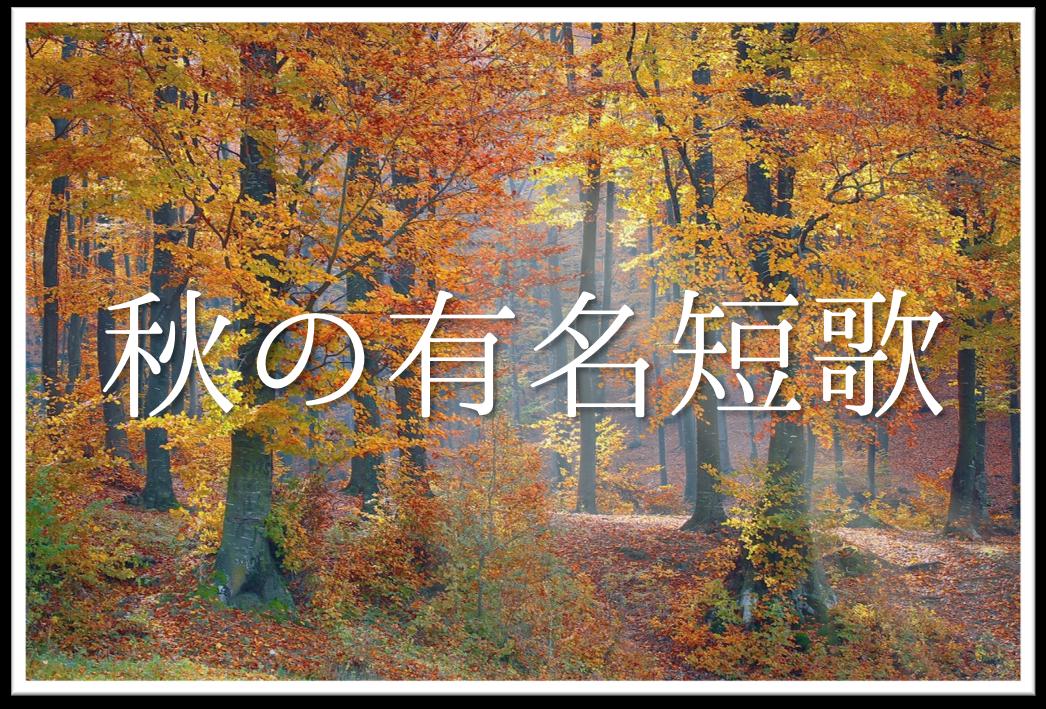 【秋の有名短歌30選】近代(現代)短歌から昔の歌人の句(和歌)まで!!徹底紹介!