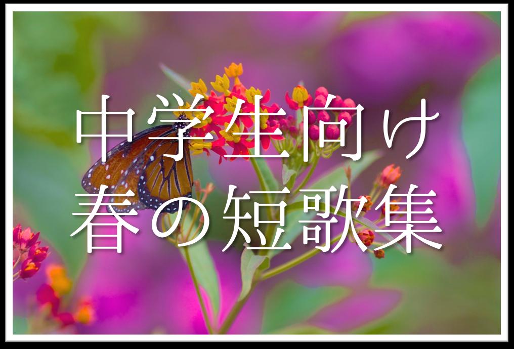 【中学生向け春の短歌 20選】おすすめ!!春の季語をふらしい短歌作品を紹介!